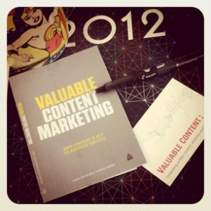 Valuable Content Marketing book writing