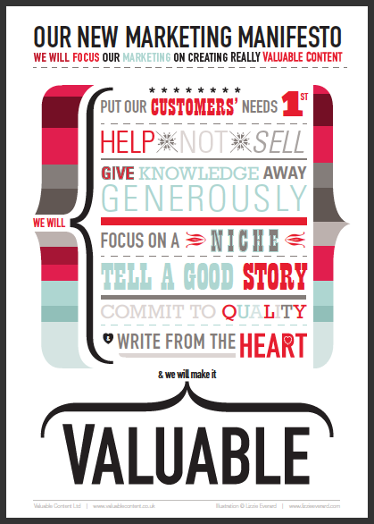 Valuable content manifesto