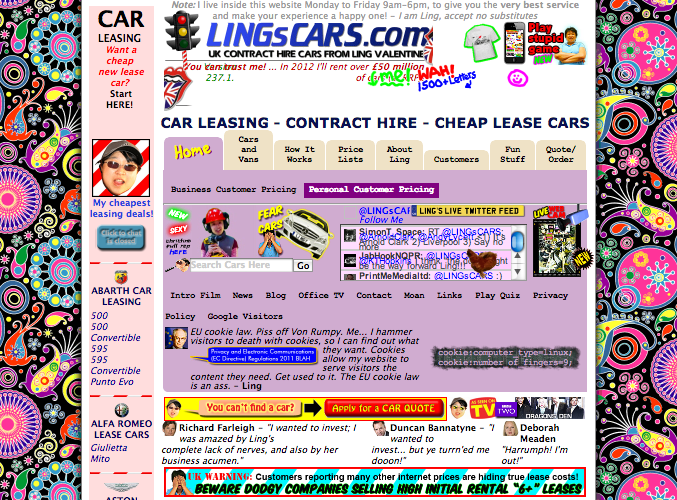 LINGsCARS website award