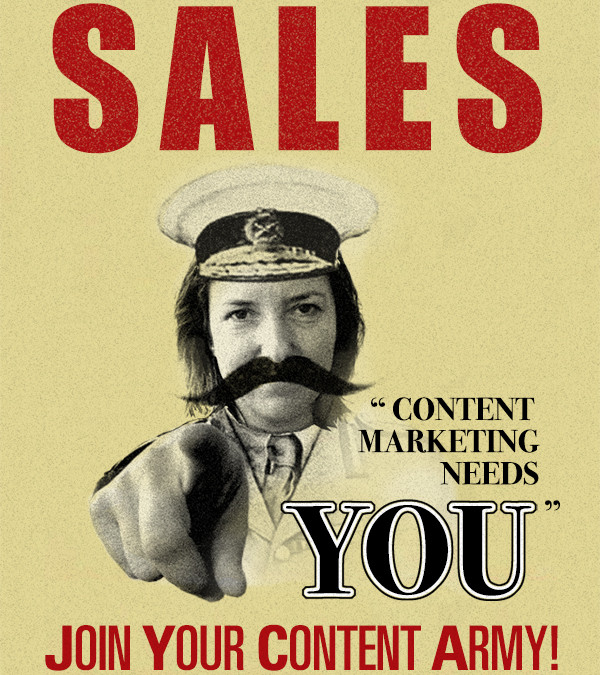 Content marketing and the forgotten sales person