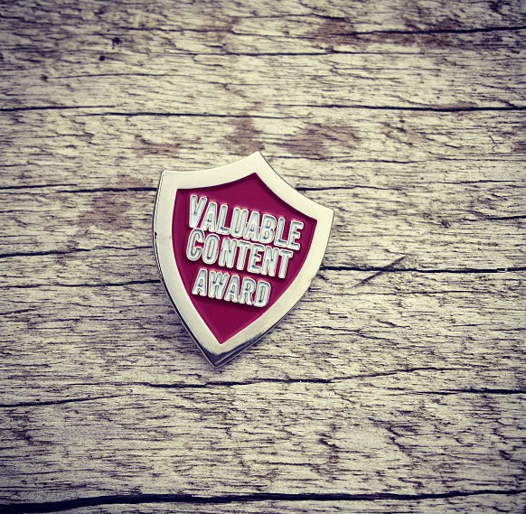 Valuable Content Award Badge