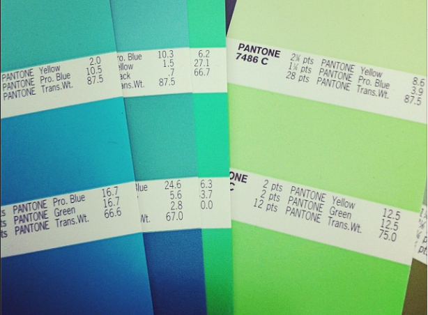 same but different - Pantone blues