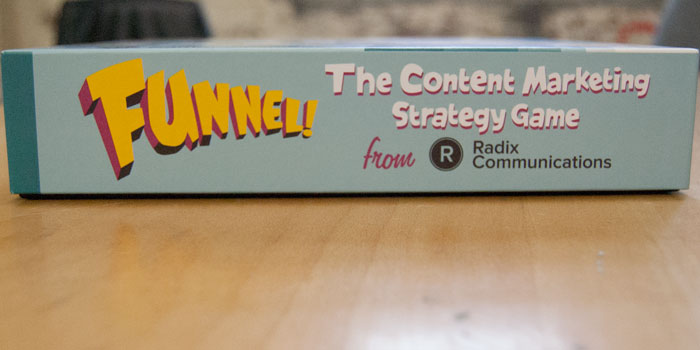 Funnel the content marketing strategy board game