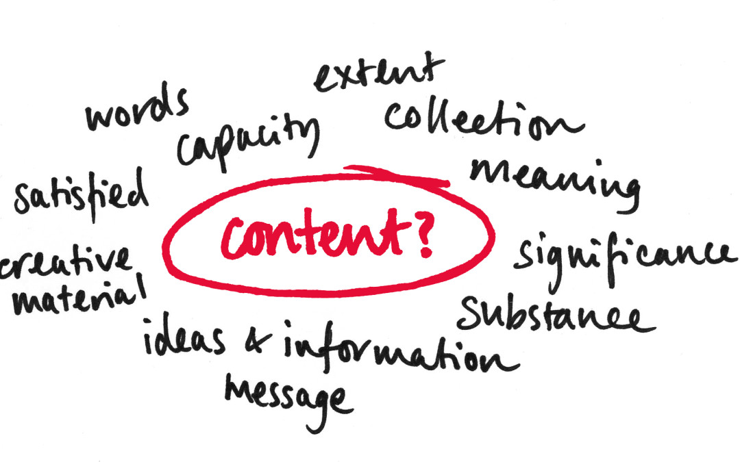 Are you content with the word 'content'?