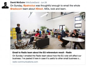 Radix Brexit letter to staff copy