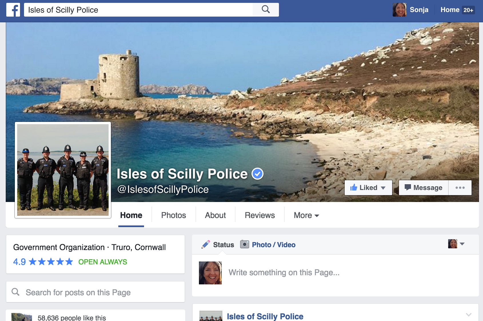 Isles of Scilly Police Facebook