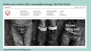 Lead with the why like Hiut Denim