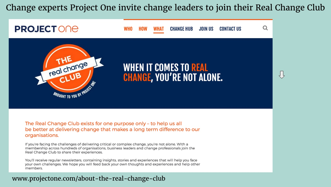 Project One Real Change Club