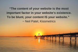 Your content is your website