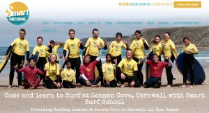 Smart Surf School homepage