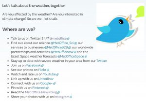 Met Office social media