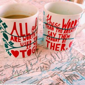 map and mugs
