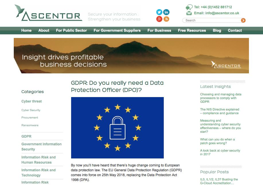 Ascentor Valuable Content Case Study