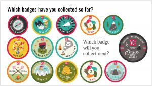 Land of Content badges