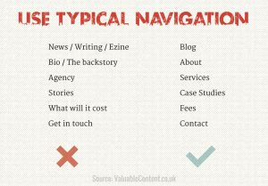 Use typical navigation