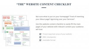 Gill Andrews website content checklist