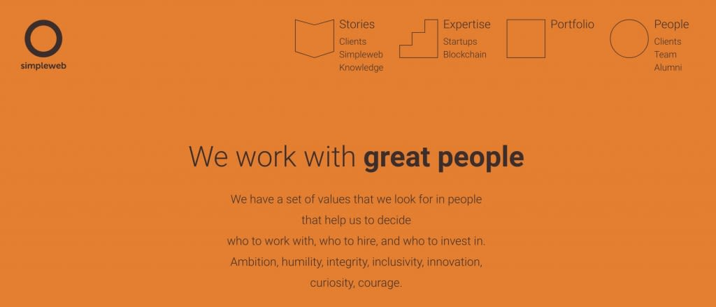 Simpleweb people page