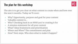 Content planning workshop