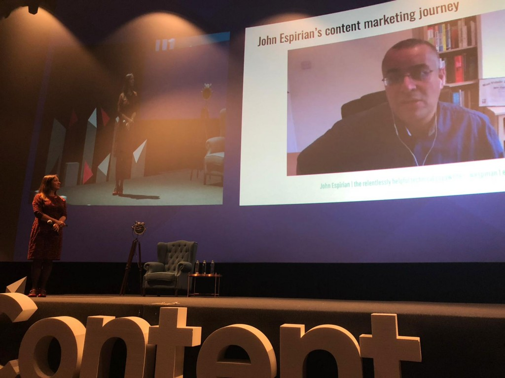 John Espirian's content marketing story at WeContent Romania
