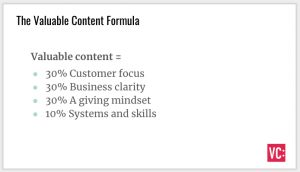 Valuable Content Formula Slide